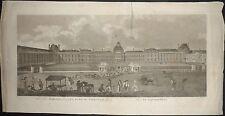 1700-PARIGI-LOUVRE-PARIS-PLACE DU CARROUSEL-GRANDE RARA INCISIONE-SPARROW-ORIGIN