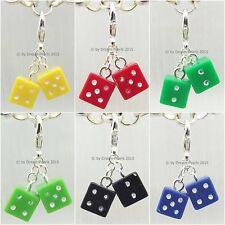 ♥ Dream-Pearls Süße Charms Würfel Glückswürfel Anhänger verschiedene Farben ♥373
