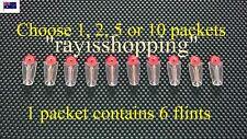 Choose 1, 2, 5 or 10 Packet of Lighter Flints, Flint Lighter Fluid Similar Zippo