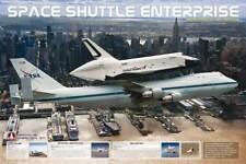 Educational - Space Shuttle Enterprise - Bildungs - Poster Druck - Größe 91,5x61