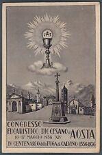 AOSTA CITTÀ 53 CONGRESSO EUCARISTICO 1936 RELIGIONE CALVINO
