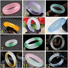 Bead Beads Bangle Bracelet 56mm-62mm Fashion 100% Natural Color Jade Jadeite