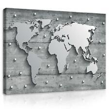Wandbild  Leinwandbild Kunstdruck 15F0142920 Beton und Metall Weltkarte Weltkart