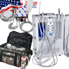 4-Hole Dental Turbine Unit Dental Delivery Unit w Compressor Mini /Bag /Suitcase