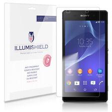 iLLumiShield Phone Screen Protector w Anti-Bubble/Print 3x for Sony Xperia Z2