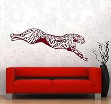 Wall Vinyl Decal Cheetah Leopard African Animal Jungle Decor z3667