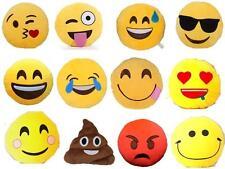 Emoji Emoticône Jaune Coussin Rond Farcies Oreiller Jouets En Peluche Décor GB