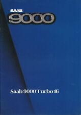 Saab 9000 Turbo 16 Prospekt 1985 brochure Auto PKWs Broschüre Schweden Europa