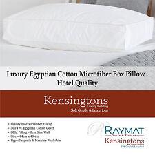 Kensingtons Luxury Microfiber Square Edge Standard Bed Pillows Single Pair Pack