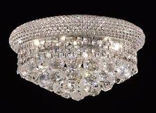 "Palace Bangle 12"" Crystal Chandelier Flush Mount Ceiling Light Chrome"
