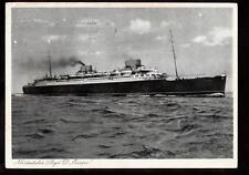"""1932 Norddeutscher Lloyd D.Europa ship Bremen 4 1/8""""x5 3/4"""" stamp postcard"""