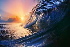 Beach Nature Ocean waves Framed Canvas Home decor wall quality Canvas print art
