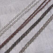 2 mètres 200cm chaine 3,5x2,5mm AU CHOIX jonction métal argenté cuivre gunmetal