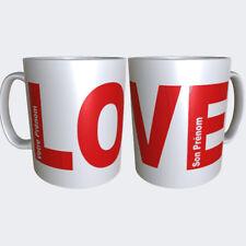 """Mug, Tasse Personnalisable en céramique Amour """"LOVE"""" 2 Prénoms au Choix"""
