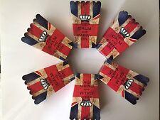 6 Palomitas Invitar Cajas Keep Calm & CARRY ON UK BANDERA UNITED Jack