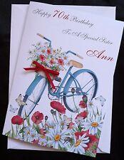 PERSONALISED Handmade Birthday Card - BICYCLE CYCLE BIKE 40th 50th 60th 1588