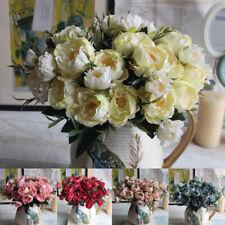 Artificial Fake Silk Peony Flower Bouquet 5 Color Wedding Centrepiece Decor Sale