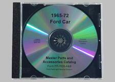 1965-72 Ford Car Master Parts Text & Illustrations CD
