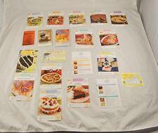 Lot Of Vintage Cookbook Recipe Pamphlets Cards Pizza Deserts Rolls Holiday S2Y6