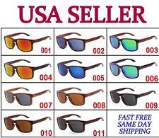 Wayfarer Sunglasses Vintage Mirror Lens Retro Style Frame Classic Indie Wood