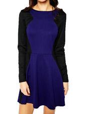 Sugarhill Boutique Deedee Dress 8-16 Blue & Black Cute Bow Back