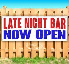 Late Night Bar Now Open Advertising Vinyl Banner Flag Sign Many Sizes