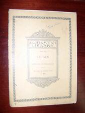 """1902 Antique Music Book """"SCHIRMER'S LIBRARY OF MUSICAL CLASSICS vol. 655, Lutgen"""
