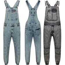 Men's Denim Dungarees Acid Wash Blue & Acid Wash Black Jeans  Pant Play Suit