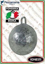 Piombo a sfera con anello Fonderia Roma 60-150gr. surf casting beach ledgering
