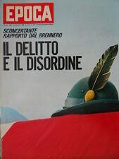 Epoca 834 1966 Tragica esplosione in Alto Adige.Speciale cinema:i film da vedere