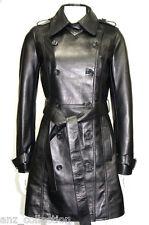 Amanda noir femmes femme's smart designer chic cuir d'agneau doux veste en cuir
