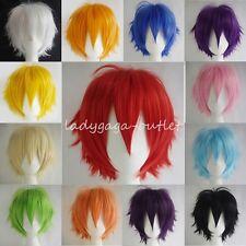 Cool Pixie Short Straight Wig Women Men Fashion Cosplay Anime Costume Hair Wig W