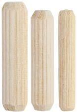 200 Stk. 6x35 mm, 8x35 mm, 10x45mm Holzdübel, Buche, Riffeldübel, Holzstifte