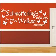 Wandtattoo Spruch  Schmetterlinge lachen Wandsticker Wandaufkleber Sticker