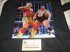 HULK HOGAN WWF WWE VINTAGE SIGNED AUTOGRAPHED 8X10 WRESTLING PHOTOGRAPH STEINER