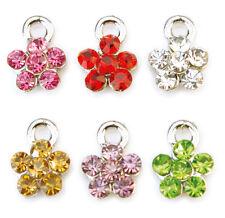 Nagel Piercing Dangle Blume in verschiedenen Farben für Nailart  #00531-00
