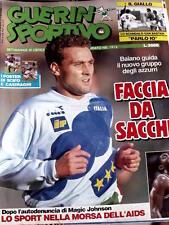 Guerin Sportivo 46 1991 con maxi poster di SCIFO e CASIRAGHI - Magic Johnson AID