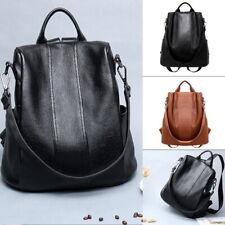 UK Lady Durable Backpack Travel Shoulder Bag Ladies PU Leather Rucksack daypack