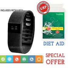 BLUETOOTH SMART WATCH CINTURINO BRACCIALE Fitness Health Monitor + African mango