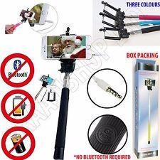 2x 5x 10x TELESCOPIC SELFIE STICK MONOPOD WIRED BLUETOOTH REMOTE MOBILE HOLDER