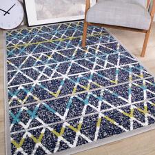 Indigo Blue Green ZigZag Geometric Rugs Multi Moroccan Chevron Area Carpet Mats