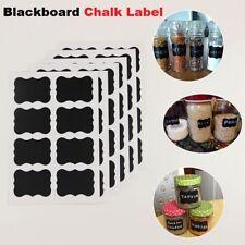 Chalkboard Blackboard Chalk Board Stickers Craft Kitchen Jar Labels Tags -Black