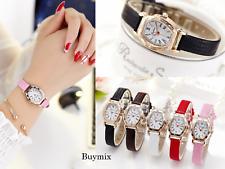 Elegant Women's Wrist Watch Dress Formal Leather Band Ladies Gift Box Option
