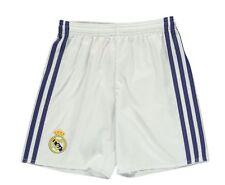 Adidas Home Heim enfants pantalons shorts REAL MADRID blanc bleu 140 ou 152 NEU