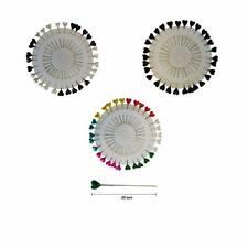 40PCS BLACK PEARL ROUND BERRY PINS SNAG FREE SEWING TAILOR DRESSMAKER VA148-1B