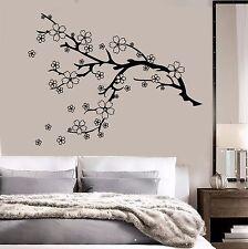 Vinyl Wall Decal Beautiful Tree Branch Nature Flowers Sakura Stickers (784ig)