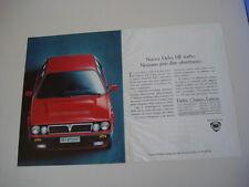 advertising Pubblicità 1991 LANCIA DELTA HF TURBO