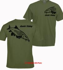 Barbo Pesca camiseta Grande Carpa Crew Pike Zander Trucha besugo Tenca Oliva Tee 2-S
