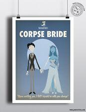 CORPSE BRIDE - Minimalist Movie Poster Posteritty Minimal Print Art Tim Burton