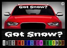 "40"" Got Snow? Ski Snowboard Snowmobile Car Decal Sticker Windshield Banner"